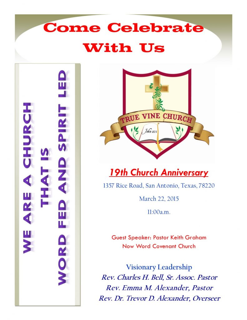 2015 Church Anniversary